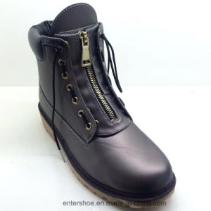 2017 Casual Style Women Leather Boots with Zipper (ET-XK160348W) pictures & photos