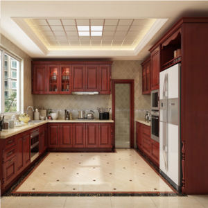 High Quality American Style Solid Wood Kitchen Cabinets China Suppliers pictures & photos