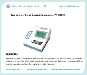 Ce Approved Two-Channel Blood Coagulation Analyzer pictures & photos
