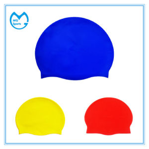 Adult Size 100% Silicone Sports Cap Swimming Hats pictures & photos