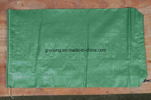 Olive Green Color Polypropylene Sandbag with Drawstring pictures & photos