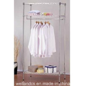 Modern Design Chrome Metal Wardrobe Closet Rack with K/D Packing (CJ-A1163) pictures & photos