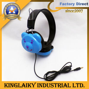 Cartoon Cute Stereo Earphone for Children (KHP-003) pictures & photos