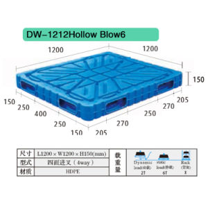 Hollow Blow Plastic Pallet Dw-1212b pictures & photos