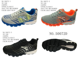 No. 50072 Three Colors Flyknit Men′s Sport Stock Shoes pictures & photos