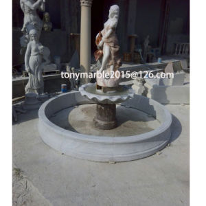 Lady Statue Stand Watering Stone Sculpture Fountain for Garden Decoration (SY-F003) pictures & photos