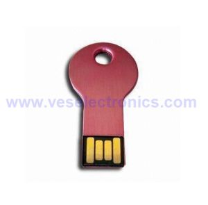 Logo Printing USB Flash Drive Metal Key Shaped 2GB 4GB, 4GB USB Pendrive pictures & photos