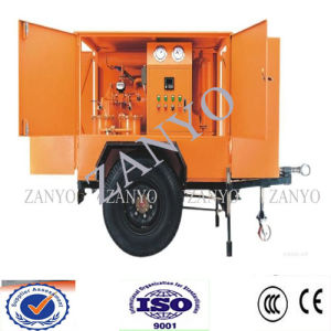 High Vacuum Transformer Insulating Oil Purifier Mobile Trailer Type with 2 Horizontal Chembers Fast & Efficient pictures & photos