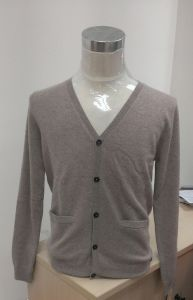 Men′s 100% Cashmere Cardigan Sweater (1514CN)