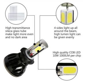 Matec G5 H7 LED Headlight Bulbs with Color Changing Tube 40W 8000lm LED H7 pictures & photos
