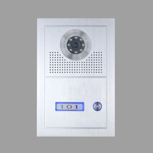 One User Aluminum Alloy Panel Door Unit for 4-Wire Intercom System pictures & photos