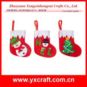 Santa Claus, Snowman Decorating Christmas Gift Sock pictures & photos