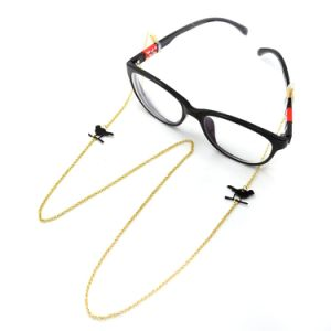 Gold Plated Chain Black Bird Glasses Strap Neck Cord Lanyard Holder pictures & photos