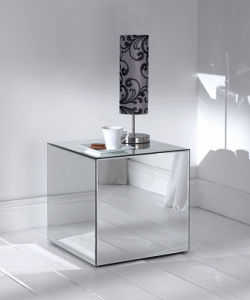 Mirror Veneer Furniture Glass Mirrored Side End Table pictures & photos