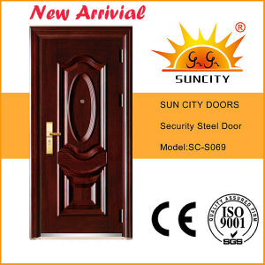 Main Steel Iron Door with Copper Painting (SC-S012) pictures & photos