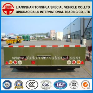 Bulldozer Crawler Crane Excavator Transportation 3 Axle 60ton Lowbed Semi Trailer pictures & photos