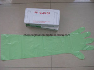 Disposable Veterinary PE Gloves with Long Sleeves pictures & photos
