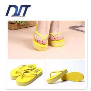 Women Thick Bottom High Heel Wedge Platform Flip Flops Slippers pictures & photos