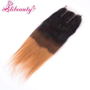 Ombre Virgin Human Hair Top Closure for Women pictures & photos