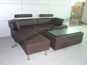 Brown PVC Popular Modern Corner Sofa