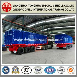 3 Axle Rear Dumping Tipper Heavy Duty Cargo Transportation Semi Trailer pictures & photos