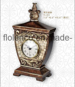 Home Decoration Polyresin Table Clock (FL-211)