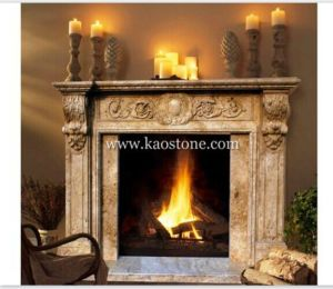 Natural Marble Stone Fireplace for Indoor pictures & photos