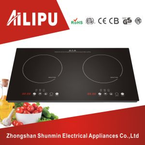 Two Burners Polished Plate Induction Cooker/Dual Plate Cooktop pictures & photos