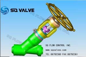 High Temperature High Pressure in Bw End Y Type Globe Valve