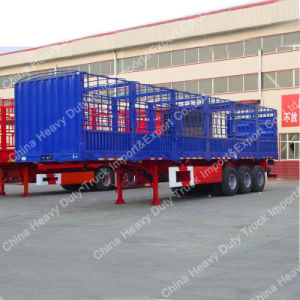 3 Alxe 50 Ton Stake/Fence Semi-Trailer for Sale pictures & photos