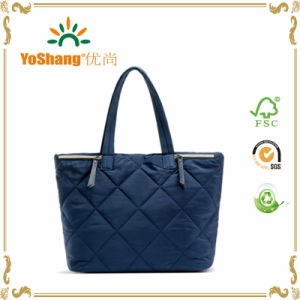 High Quality Grid Polyester Lady Hand Bag Available for Custom Bags pictures & photos