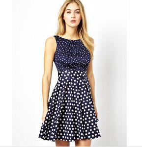 2014 Round Neck Printed High Waist Dress (L002)