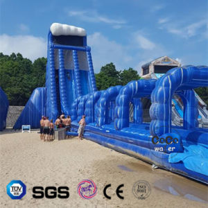 Blue Inflatable Big Water-Slide for Water Game for Adult LG8097