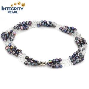 Baroque Freshwater Pearl Bracelet 7mm Black Pearl Bracelet