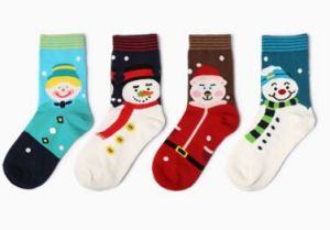 Fashion Knee High Christmas Snowman Sock in Various Colors and Designs pictures & photos