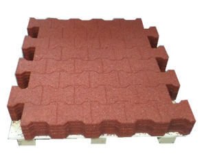 Red Color Bone Type Rubber Flooring, Rubber Floor Tile pictures & photos