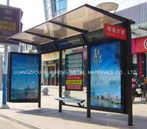 Pubic Furniture Bus Shelter for Display (HS-BS-C021) pictures & photos