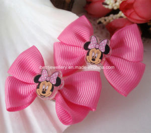 Disney Hair Accessories-Fabric Minnie Hairpin/Hair Clip Set H063 pictures & photos