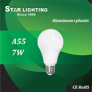 Aluminum Plastic 7W A55 LED Bulb with Ce RoHS