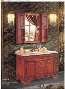Solid Wood Eroupean Style Classical Bathroom Vanity (ADS-614) pictures & photos