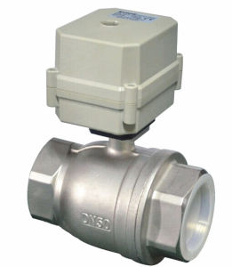 "Good Sealing 2"" Aurtomatic Stainless Steel Electric Motorized Water Ball Valve (T50-S2-C) pictures & photos"