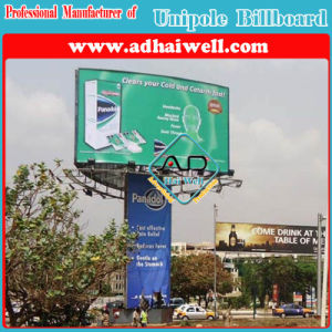 Frontlit Three Sided Curve Tower Sign Board (W10 X H6m) pictures & photos