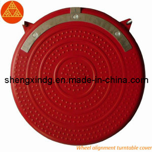 Stamping Wheel Alignment Turntable Cover with Red Powder Spraying (SX220) pictures & photos