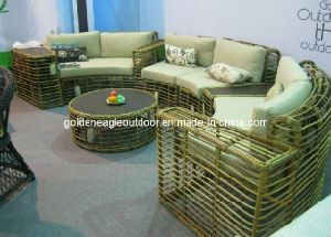 Round Rattan 2014 New Design Outdoor Garden Sofa (TY0014) pictures & photos
