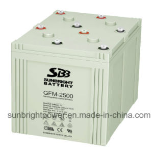 2V2500ah Deep Cycle Maintenance Free Solar Power Telecom Battery pictures & photos