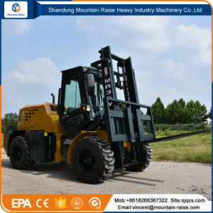 High Quality 4W All Terrain Forklift with Side Adjust (MR35Y) pictures & photos