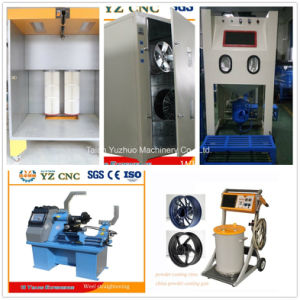Horizontal Car Alloy Wheel CNC Lathe Rim Repair Machine pictures & photos