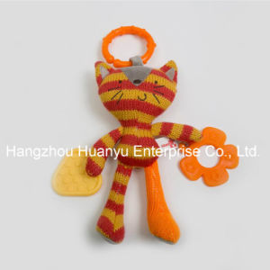 Factory Supply Knit Sweater Fabric Baby Teether Toy pictures & photos