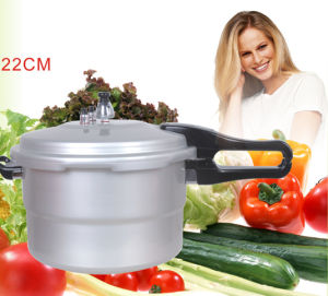 Aluminum Pressure Cooker (Polished Surface)