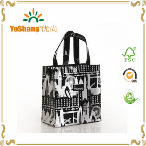 Vinyl PVC Shopping Tote Bag Shiny Vinyl Black PVC Zipper Tote Bags pictures & photos